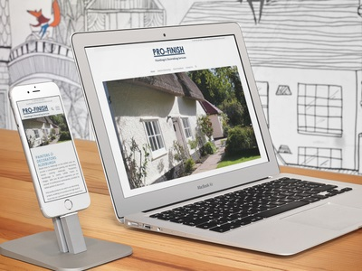 SEO & Web Design Project. Image shows home page of Pro-Finish Decorators new Website