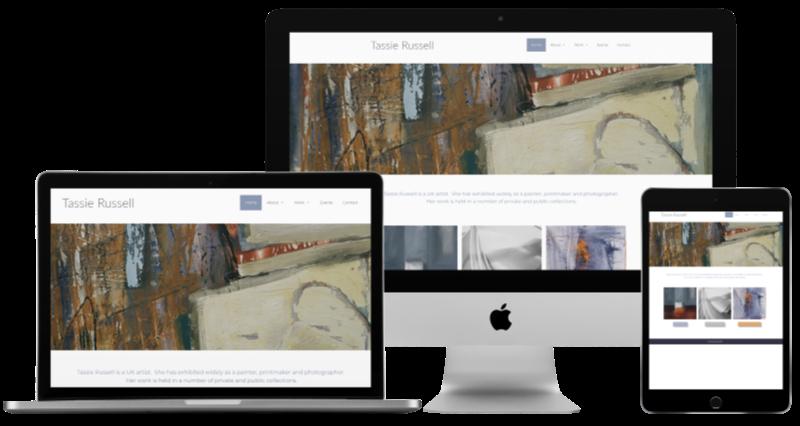 Tassie Russell Artist - Web Design Project